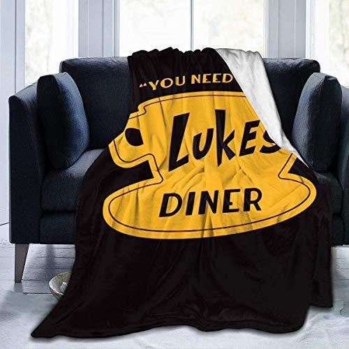 Luke's Diner - Coperta in micropile ultra morbida, 152,4 x 127 cm