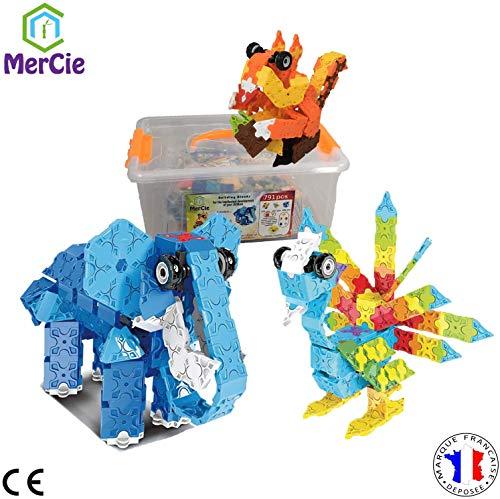 Bouwspeelgoed 3 diermodellen | 791 stukjes om tegelijkertijd een eekhoorn, een olifant en een vogel te bouwen. Gedetailleerd boekje voor elk model | Creatief speelgoed voor kinderen 6 7 8 9 10+ jaar