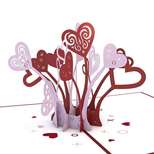 Lovepop Love Explosion Pop Up Card, 3D Card, Love Card, Valentine's Day Card, Romance Card, Heart Card