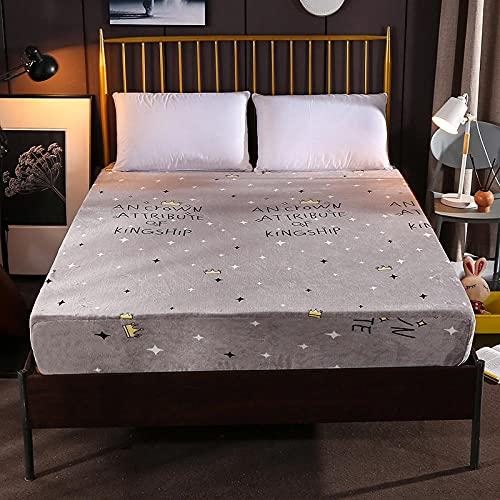 XGguo Protector de colchón - óptimo antiácarosSábana de Terciopelo de Color sólido de una Sola Pieza engrosamiento-33_100cm × 200cm