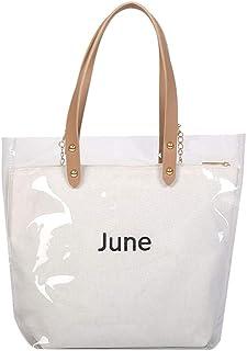 Wultia - Women's Fashion Wave Point Transparent Shoulder Bag Fruit Grain Crossbody Bag Lady Transparent Jelly Pack 6.66#M07 White