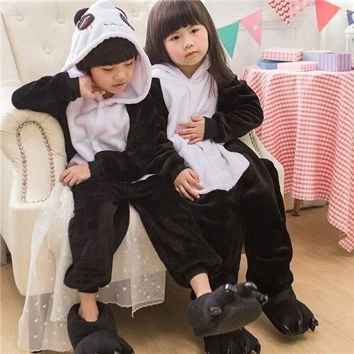 Einhorn Pyjama Jumpsuit Kinder Stich Kigurumi Pyjama Kid Junge Mädchen Anime Overall Tiger Pijama Baby Body Onepiece Tierbaby Nachtwäsche Cosplay (Color : D, Size : 5T)