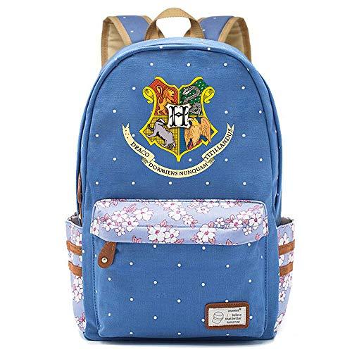 NYLY Hogwarts Logo mochila niñas floral lienzo Schoolbag Boy Colleges Casual Daypacks...