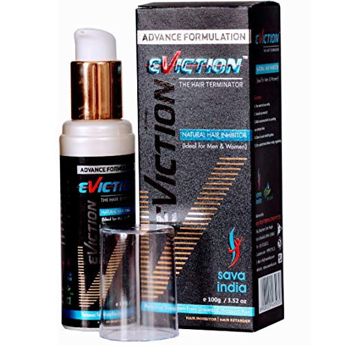 EVICTION Natural Hair Inhibitor Cream Permanent Stop Unwanted Hair Growth on Body and Face in Men & Women- 100gm