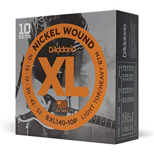 D'Addario EJ21, cuerdas con entorchado en níquel para guitarra eléctrica, blandas para...