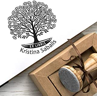 Timbri Personalizzati Ex libris Albero della Vita Fiore Primavera Scatole Regalo