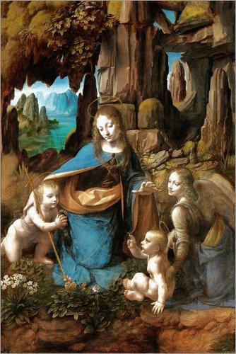 Posterlounge Cuadro de PVC 100 x 150 cm: The Virgin of The Rocks de Leonardo da Vinci