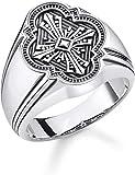Thomas Sabo Unisex-Ring Kreuz 925er Sterlingsilber geschwärzt TR2244-637-21-52