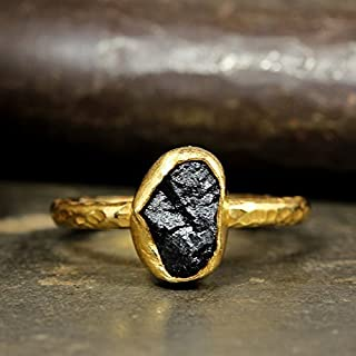 raw tourmaline ring
