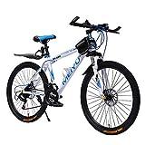 YXWJ Variable nueva bicicleta de la aleación de bicicletas de montaña 30-21 Velocidad doble freno de disco de 26 pulgadas 24 pulgadas masculino y estudiante de velocidad bicicleta de carretera Métodos
