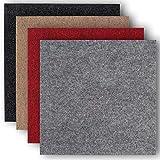 andiamo Teppichfliesen selbstklebend Teppichboden Bodenbelag Nadelfilz Fliese 40 x 40 cm - Set,...