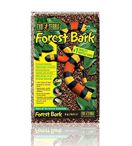Exo Terra Forest Bark, Natural Terrarium Substrate, 8 Quarts, PT2752