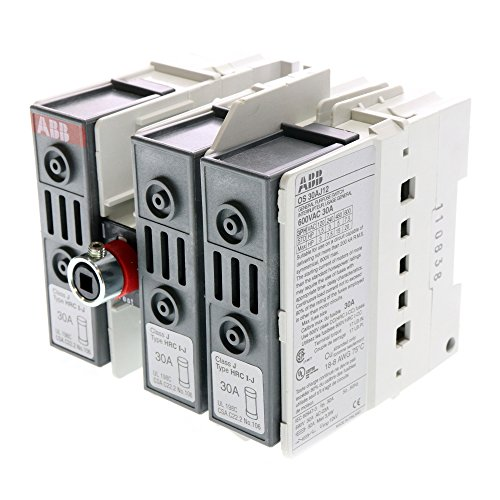 ABB OS-30AJ12 Fused Open Disconnect Switch, 30A, 600V, Class J, Fuse Holder