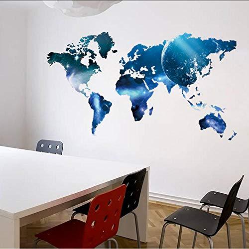 La nueva estrella Lollipop mapa del mundo dormitorio de invitados pegatinas de pared de fondo al por mayor pegatinas de muebles para el hogar 55X99Cm