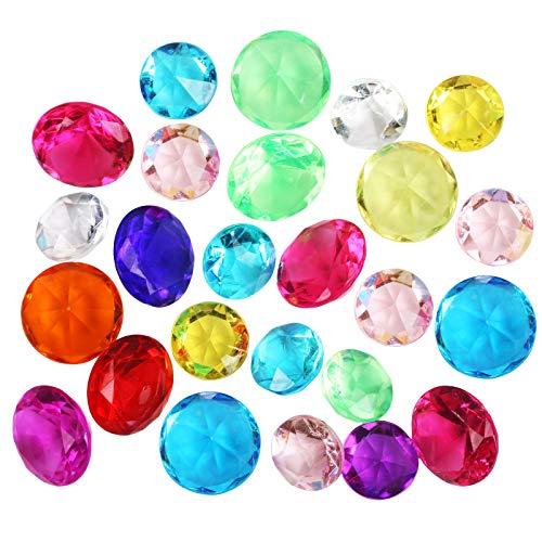 LAITER 30 Pcs Gemas Acrílicas de Diamante Joyas Pirata Tesoro Fiesta de Navidad Jarrón Decoración Escenario de Rendimiento de Relleno de Piedras Preciosas de Cristal para Niños Suministros de Juego