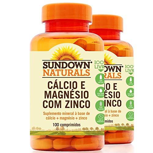 Kit 2 Cálcio Magnésio e Zinco Sundown 100 comprimidos