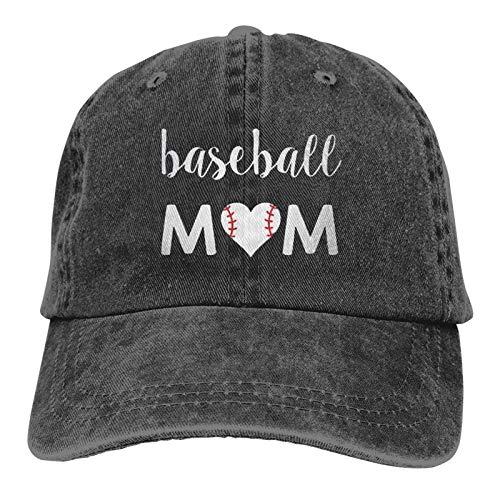 Gorra de béisbol unisex para adultos, estilo vintage, color negro