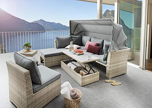 Destiny Loungegruppe Aruba III Dining-Lounge Loungeinsel Loungeliege