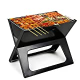 CestMall BBQ Charcoal Grill, Folding Charcoal <span class='highlight'>Barbecue</span> Grill Rack, Stainless Steel <span class='highlight'>Barbecue</span> <span class='highlight'>Tool</span> Kits, Ultralight Foldable Grill Easy to Setup, Perfect for Camping Cooking Outdoor Garden Party