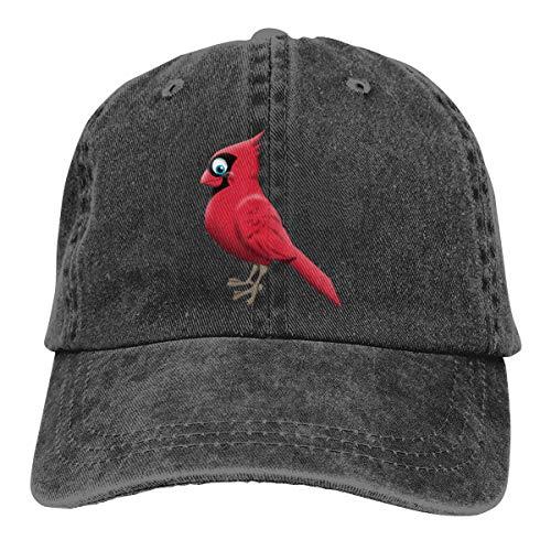 Nonebrand Cardinal Baseballkappe Cowboy Caps – verstellbare Mode Hip Hop Jeans Hut für Männer Frauen