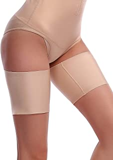 LaSculpte 3 Pairs Elastic Smoothing Anti-Chafing Thigh Bands with Nonslip Silicone - Prevent Inner Thigh Chafing