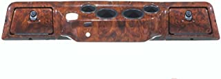 GMT Inc Simulated Dark Burled Woodgrain Full Golf Cart Dash to fit All Club Car DS Models with Metal Banding Around Glove Boxes