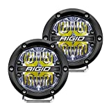 Rigid Industries 36117 360-Series LED Off-Road Light 4 in Drive Beam for Moderate Speed 20-50 MPH Plus White Backlight Pair
