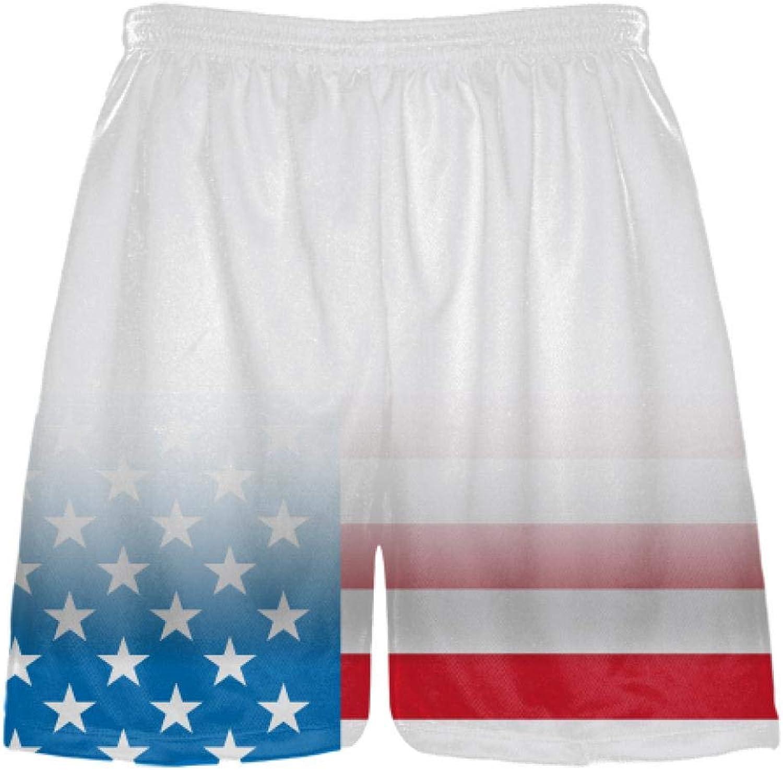 LightningWear White Fade USA Flag Shorts