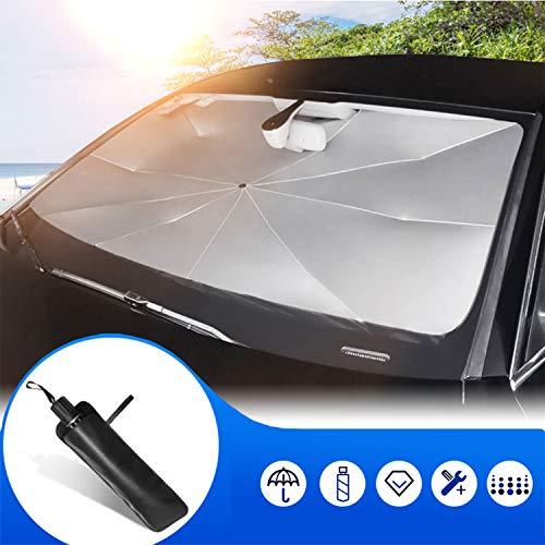 Kwak's Parasol del Coche Parabrisas Paraguas del automóvil UPF50+ Parasol de Corte UV para guardabrisa para Proteger el Interior del Auto(1#Grande)