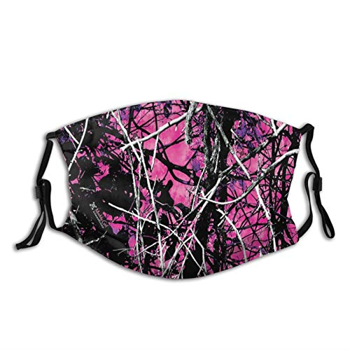 Funhome Mu-Ddy Girl Camo Reusable Face Mask for Cycling Travel Outdoors Style for Adults Unisex
