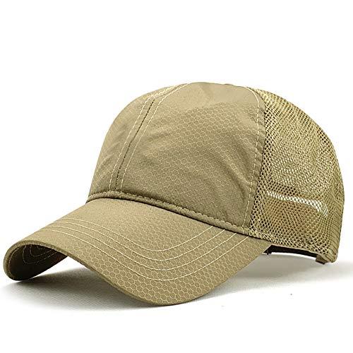 FXSYL Großer Kopf Mann Plus Größen-Baseballmütze-Mann-Sommer-dünne Gewebe-Ineinander greifen-Sonnenhut-männliche Hysteresen-Hüte,A1,Code 60-65CM