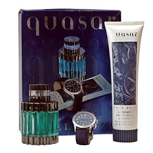 Jesus del Pozo Quasar Eau de Toilette Spray 75 ml + Duschgel 150 ml + Uhr