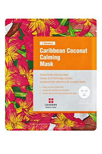 [Leaders Insolution] 7 Wonders Caribbean Coconut Calming Coconut Gel Bio-Cellulose Mask 10Pk