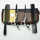 Ciseaux Coiffure, Ciseaux de coupe de cheveux Kit de ciseaux de coiffure professionnel Coupe nette et précise 5,5 pouces Ciseaux à cheveux Peigne de beauté for salon de coiffure Outils de coiffure