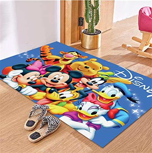 LGXINGLIyidian Alfombra De Dibujos Animados De Disney Mickey Y Minnie Mouse Tapete para Puerta Niños Niños Niñas Juego Alfombra Dormitorio Cocina Alfombra Alfombra De Baño Interior V-575M 180X200Cm