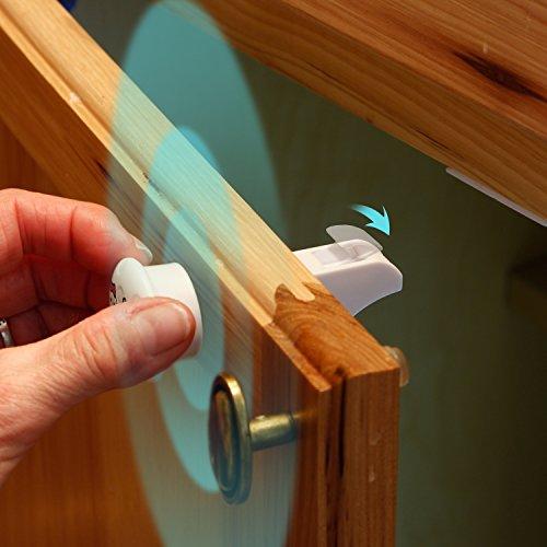 Magnetic Cabinet Locks - 12 Locks, 2 Keys & New Install Tool - Child Proof Safety Locks - Baby Proof Drawers - Easy Installation - No Tools Or Screws Needed - Jool Baby