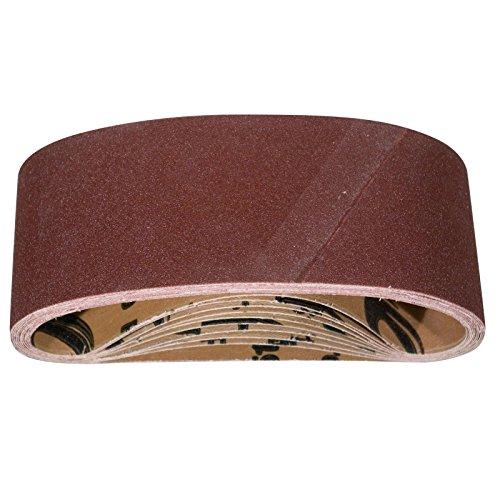 POWERTEC 110090 4 x 24 Inch Sanding Belts | 80 Grit Aluminum Oxide Sanding Belt | Premium Sandpaper For Portable Belt Sander – 10 Pack
