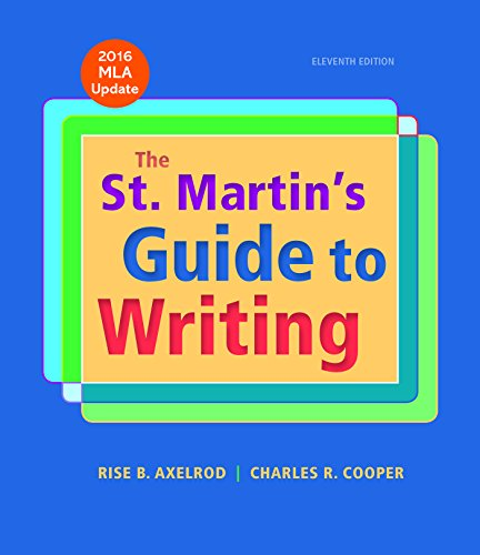 The St. Martins Guide to Writing with 2016 MLA Update