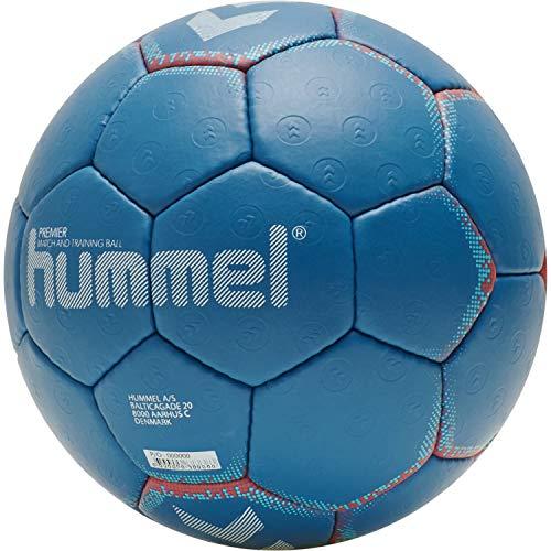 hummel Unisex-Adult Premier HB Handball, Blue/ORANGE, 1