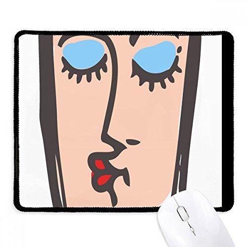 DIYthinker Resumen beso bosquejo de la cara Emoticonos antideslizante Mousepad Oficina Juego Negro Titched Bordes regalo