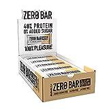 BioTechUSA Zero Bar Barretta ad alto contenuto proteico senza zuccheri aggiunti o aspartame, senza lattosio né glutine e con dolcificanti, 20 * 50 g, Chocolate Chip Cookies