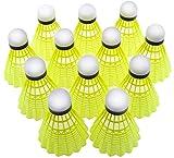 Best Badminton Shuttlecocks - YORBAX® Pack of 10 Plastic Badminton Shuttlecock (Green) Review