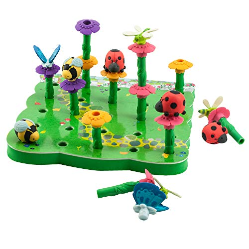 Educational Insights Bright Basics Peg Garden, Stacking, Matching, Fine Motor Skills, Toddler Toys, Ages 2+