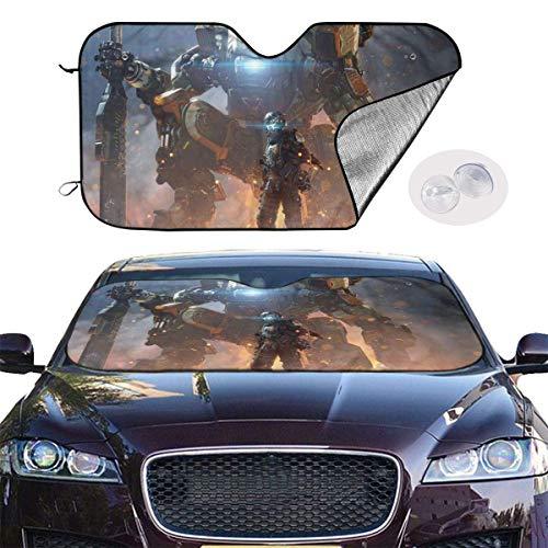 JKKSA Parasol Protector Solar para la Parabrisa Delantera del Coche Apex Legends Power Auto Shield Cover Sun Shade for Windshield UV Sun and Heat Reflector
