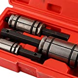 3 Pieces Car Tail Pipe Expander Exhaust Muffler Spreader Tool Set, 6 x Extra O-Rings with Blow Mold Storage Case