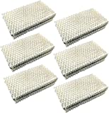 HQRP Wick Filter (6-Pack) Compatible with IDYLIS 828413B002 Replacement fits IHUM-10-140 / I HUM 10 140 4-Gallon Whole-House Humidifier