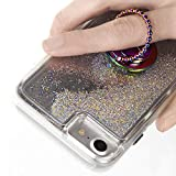 【Case-Mate】 指輪をイメージ スマホリング iPhone/AQUOS/arrows/Galaxy/Xperia スマホ 汎用 スタンド機能 Selfie Dotted Ring Rose Iridescent 落下防止 バンカーリング フィンガーリング ドット イリディセント