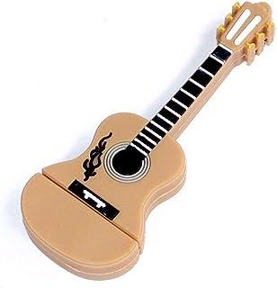 Guitarra 8 GB – Guitar - Memoria Almacenamiento de Datos – USB Flash Pen Drive Memory Stick – Beige Marrón