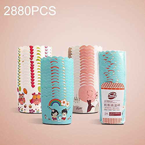 Why Should You Buy Cake Cups 2880 PCS Round Lamination Cake Cup Muffin Cases Chocolate Cupcake Liner...