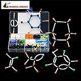 Aprigy - 268pcs Molecular Modelo Set DLS-9268 Moléculas de Química Orgánica Kits de Modelo de Estructura para Enseñanza Escolar Investigación Serie 9mm